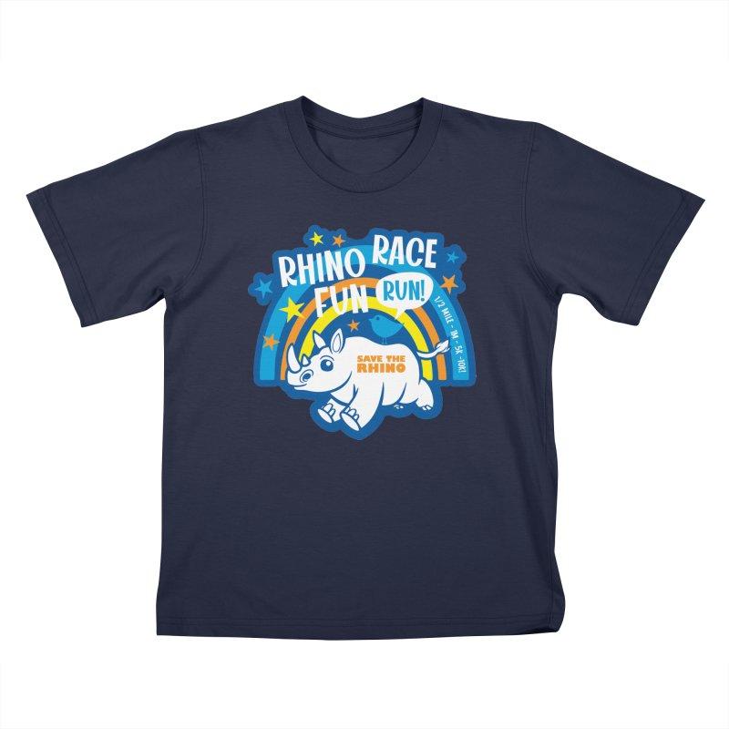 RHINO RACE FUN RUN Kids T-Shirt by Moon Joggers's Artist Shop
