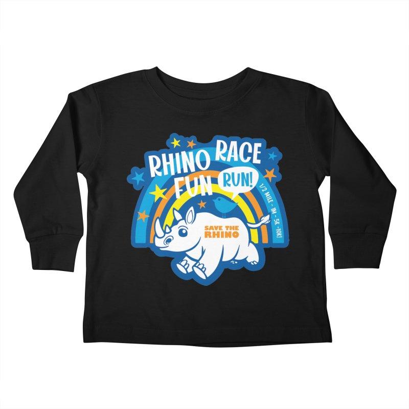 RHINO RACE FUN RUN Kids Toddler Longsleeve T-Shirt by Moon Joggers's Artist Shop