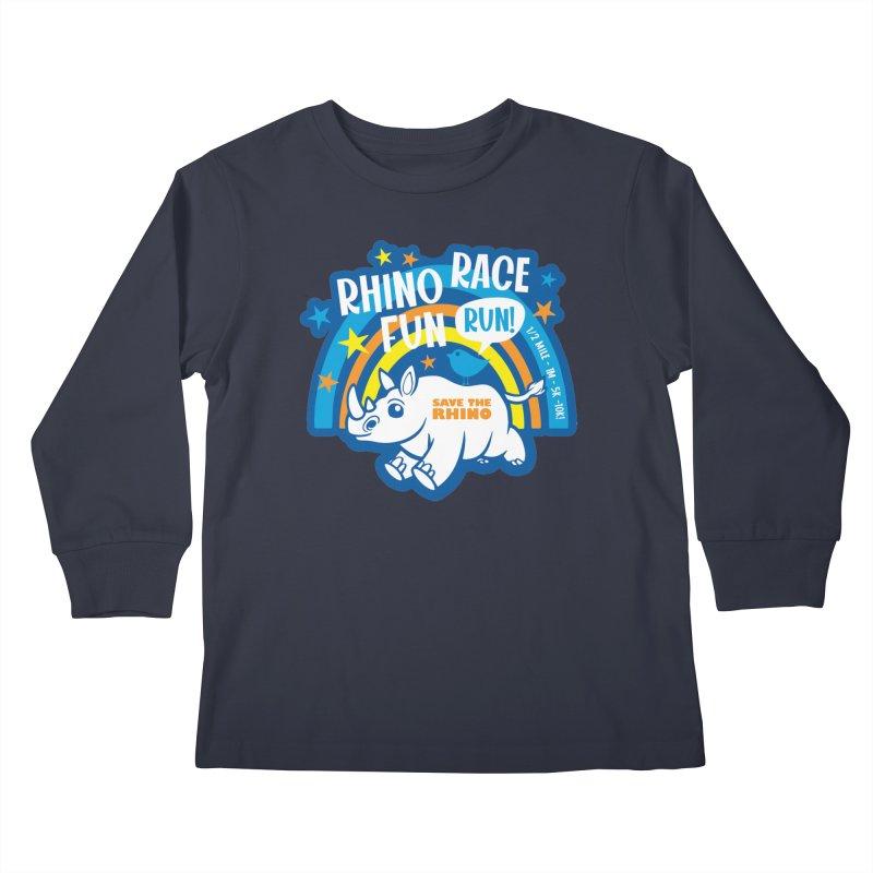 RHINO RACE FUN RUN Kids Longsleeve T-Shirt by Moon Joggers's Artist Shop