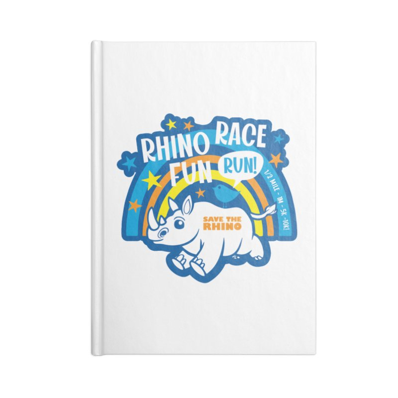 RHINO RACE FUN RUN Accessories Notebook by Moon Joggers's Artist Shop