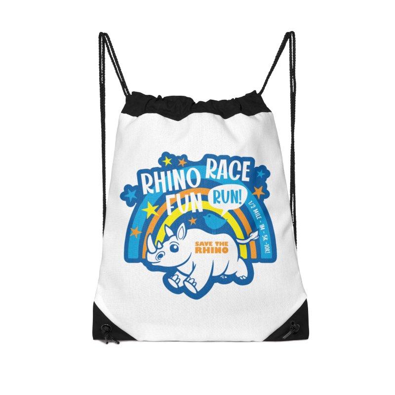 RHINO RACE FUN RUN Accessories Bag by Moon Joggers's Artist Shop