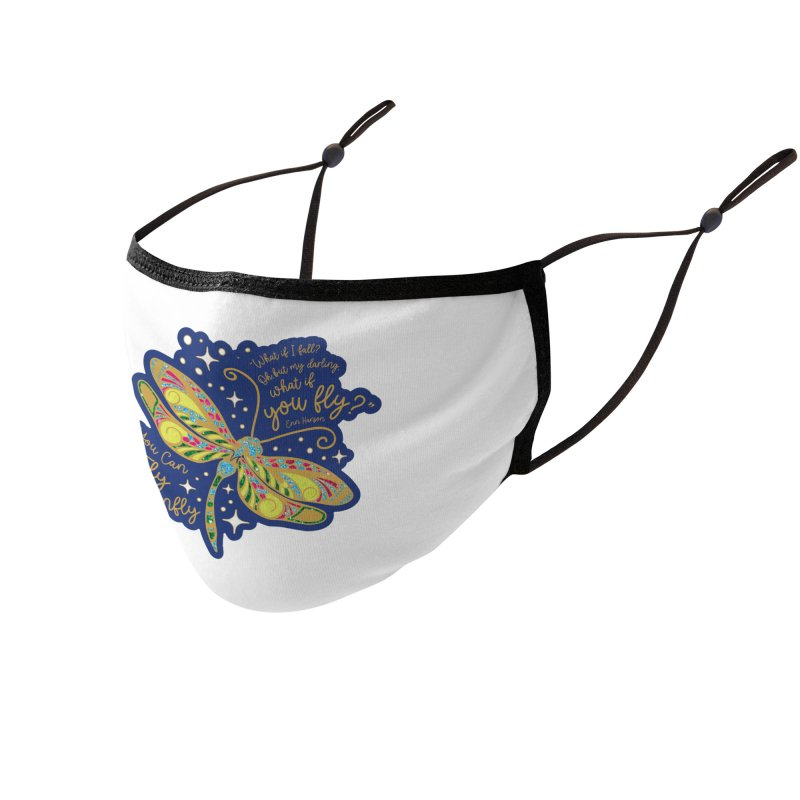 You Can Fly Dragonfly Accessories Face Mask by Moon Joggers's Artist Shop