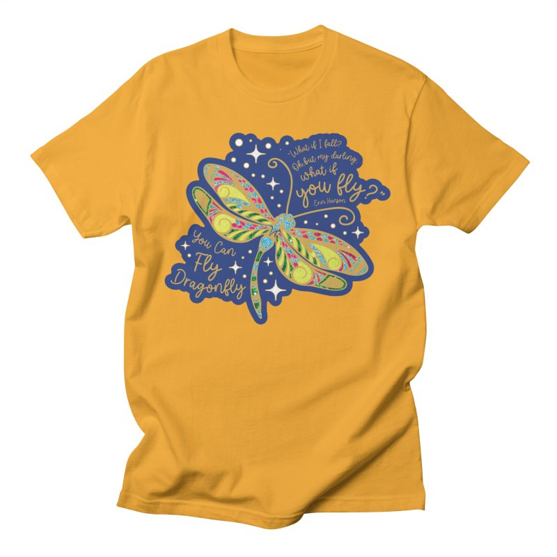 You Can Fly Dragonfly Men's T-Shirt by Moon Joggers's Artist Shop