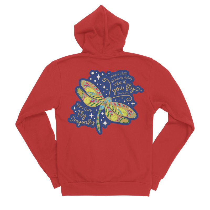 You Can Fly Dragonfly Women's Zip-Up Hoody by Moon Joggers's Artist Shop