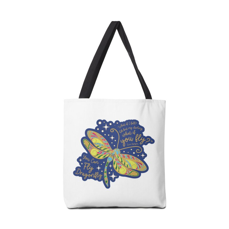 You Can Fly Dragonfly Accessories Bag by Moon Joggers's Artist Shop