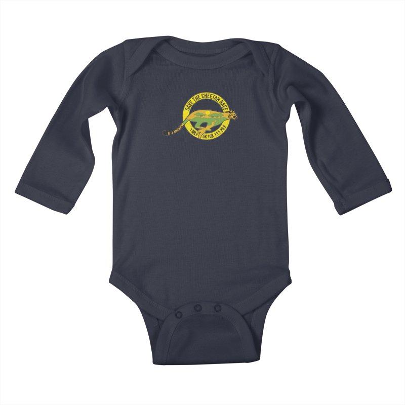 Save the Cheetah Kids Baby Longsleeve Bodysuit by Moon Joggers's Artist Shop