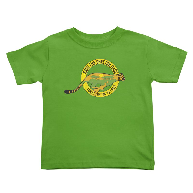 Save the Cheetah Kids Toddler T-Shirt by Moon Joggers's Artist Shop