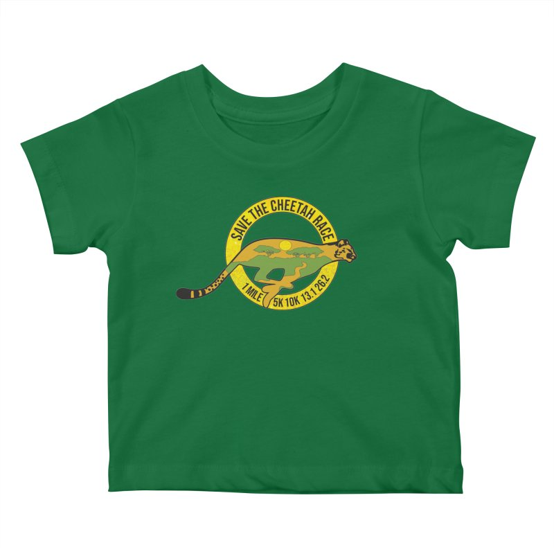 Save the Cheetah Kids Baby T-Shirt by Moon Joggers's Artist Shop