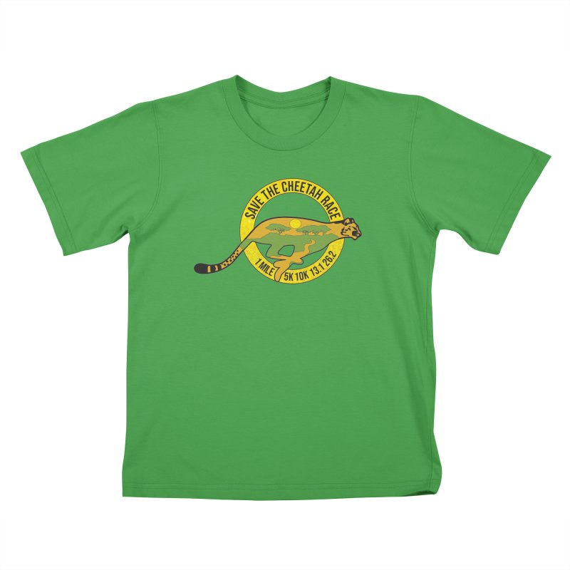 Save the Cheetah Kids T-Shirt by Moon Joggers's Artist Shop