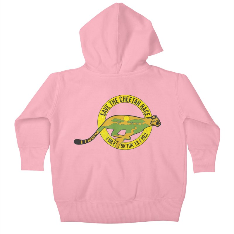 Save the Cheetah Kids Baby Zip-Up Hoody by Moon Joggers's Artist Shop
