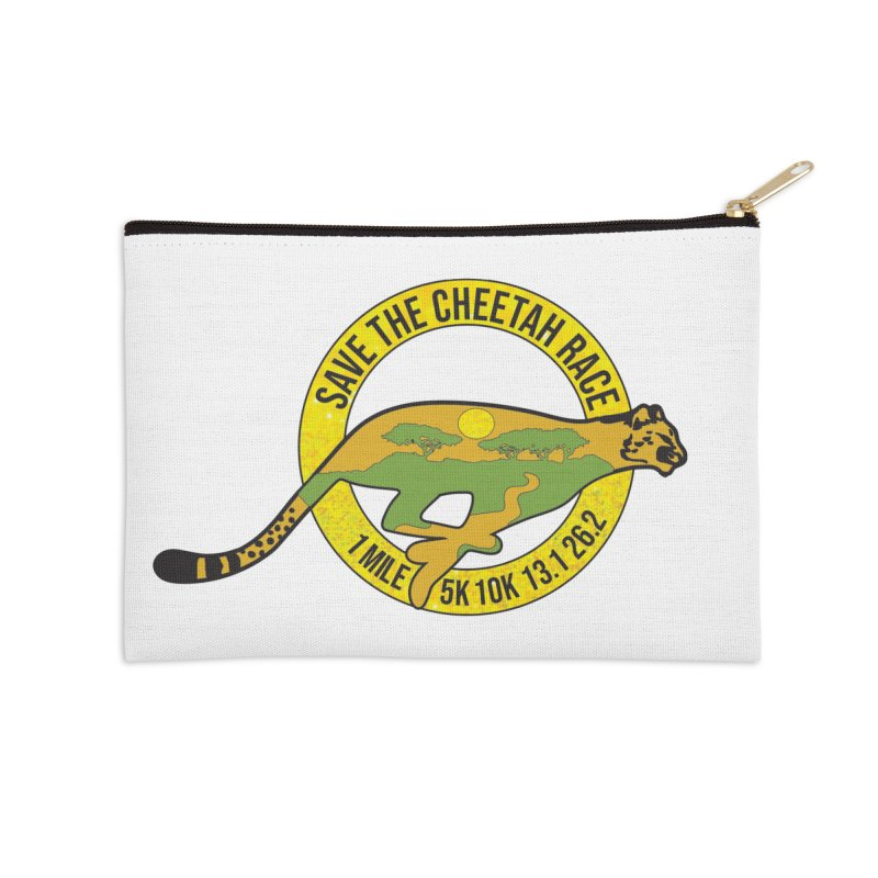 Save the Cheetah Accessories Zip Pouch by Moon Joggers's Artist Shop