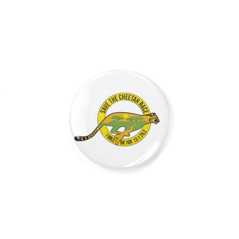 Save the Cheetah Accessories Button by Moon Joggers's Artist Shop