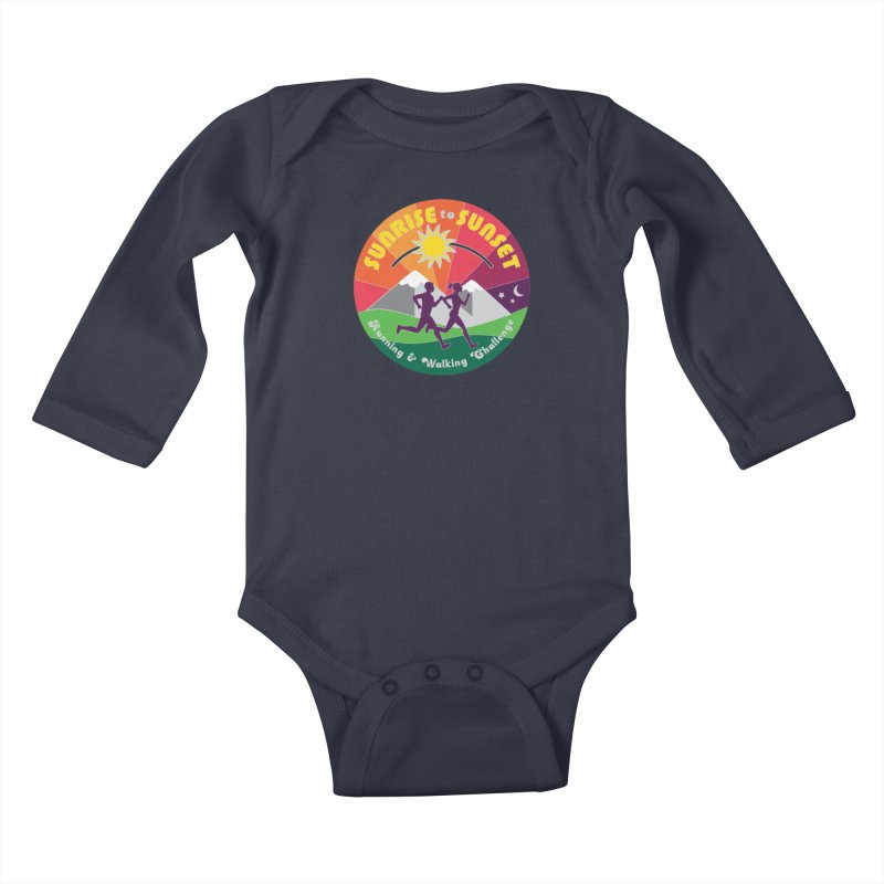 Sunrise to Sunset Kids Baby Longsleeve Bodysuit by Moon Joggers's Artist Shop