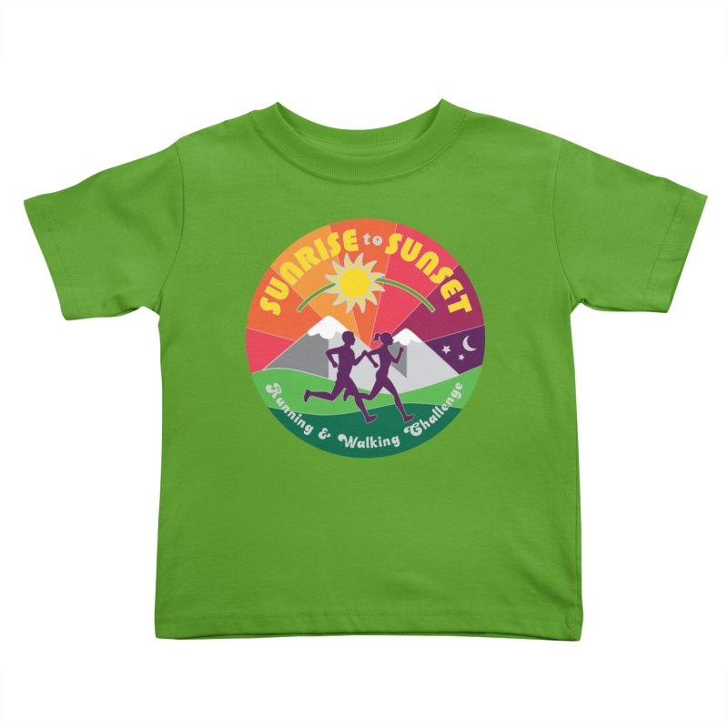 Sunrise to Sunset Kids Toddler T-Shirt by Moon Joggers's Artist Shop
