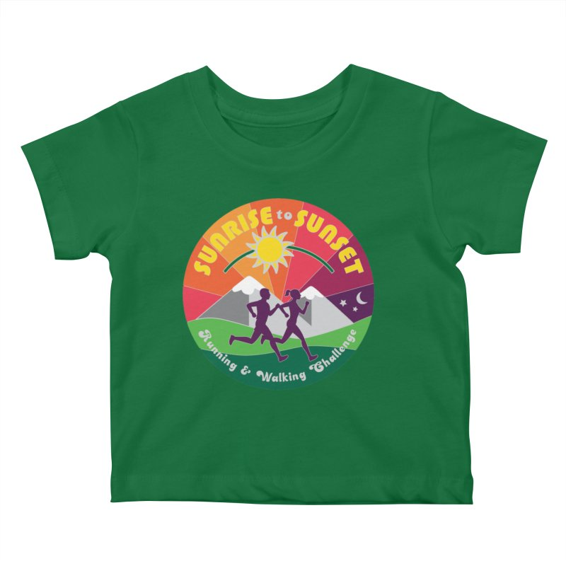 Sunrise to Sunset Kids Baby T-Shirt by Moon Joggers's Artist Shop