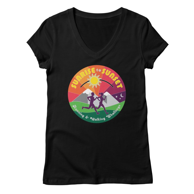 Sunrise to Sunset Women's V-Neck by Moon Joggers's Artist Shop