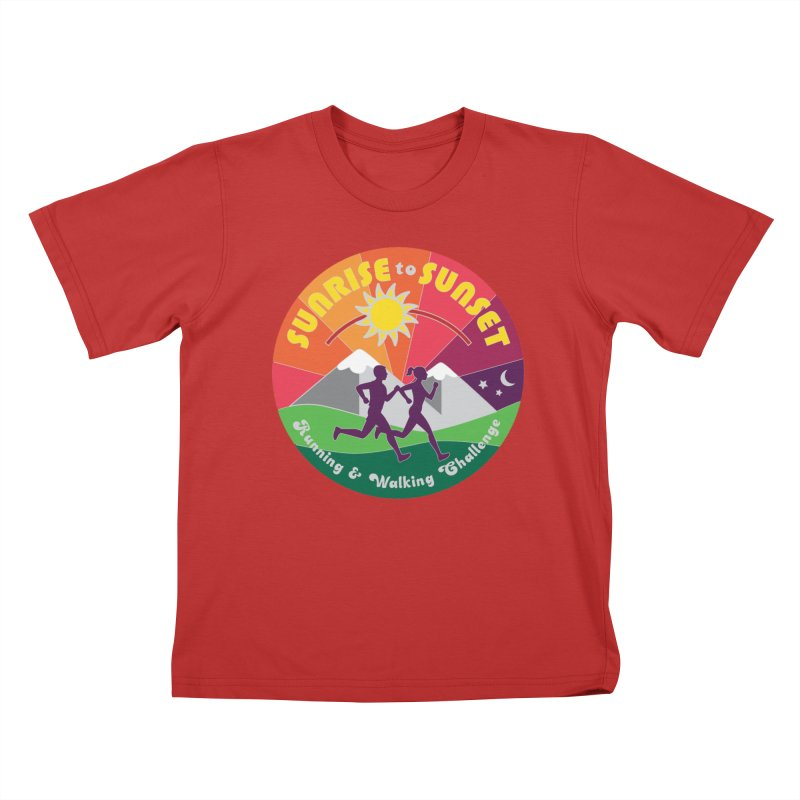 Sunrise to Sunset Kids T-Shirt by Moon Joggers's Artist Shop