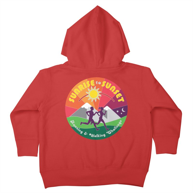 Sunrise to Sunset Kids Toddler Zip-Up Hoody by Moon Joggers's Artist Shop