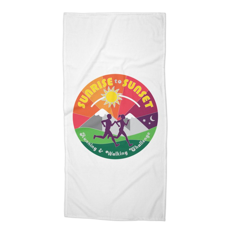 Sunrise to Sunset Accessories Beach Towel by Moon Joggers's Artist Shop