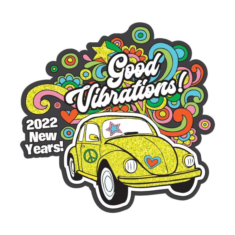 Good Vibrations New Year 2022! Men's Longsleeve T-Shirt by Moon Joggers's Artist Shop