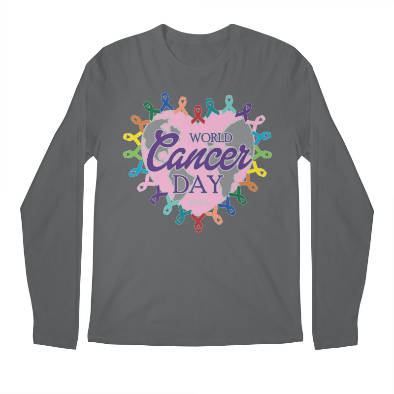 World Cancer Day Men's Longsleeve T-Shirt by Moon Joggers's Artist Shop