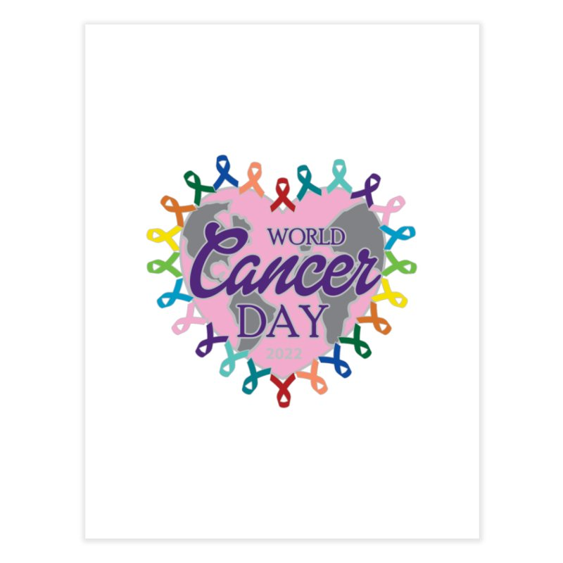 World Cancer Day Home Fine Art Print by Moon Joggers's Artist Shop