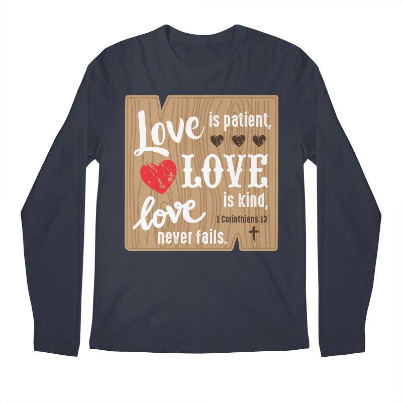 Love is Patient Men's Longsleeve T-Shirt by Moon Joggers's Artist Shop