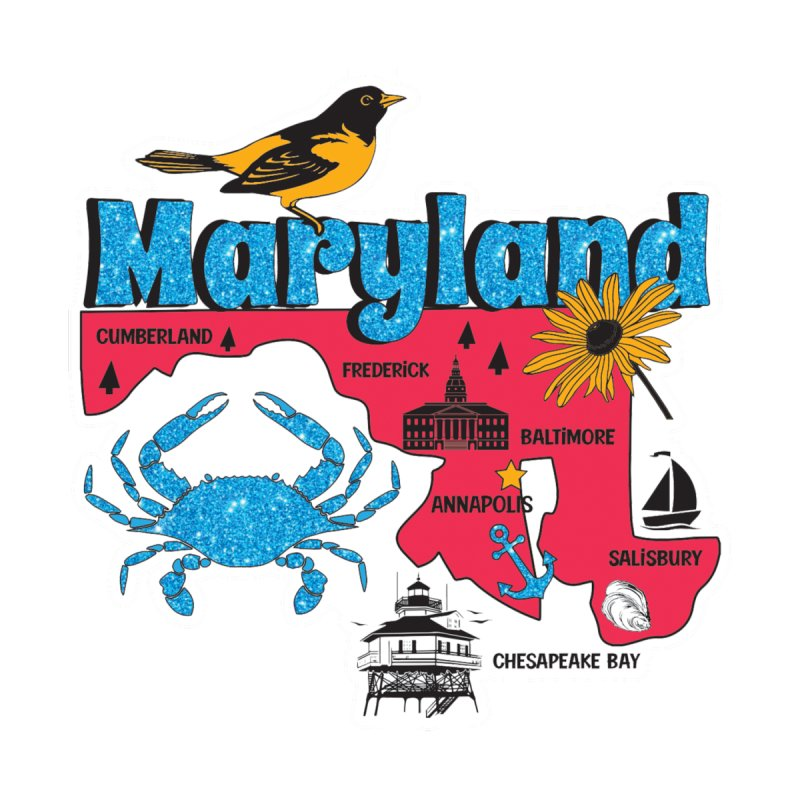 Race Through Maryland Accessories Mug by Moon Joggers's Artist Shop