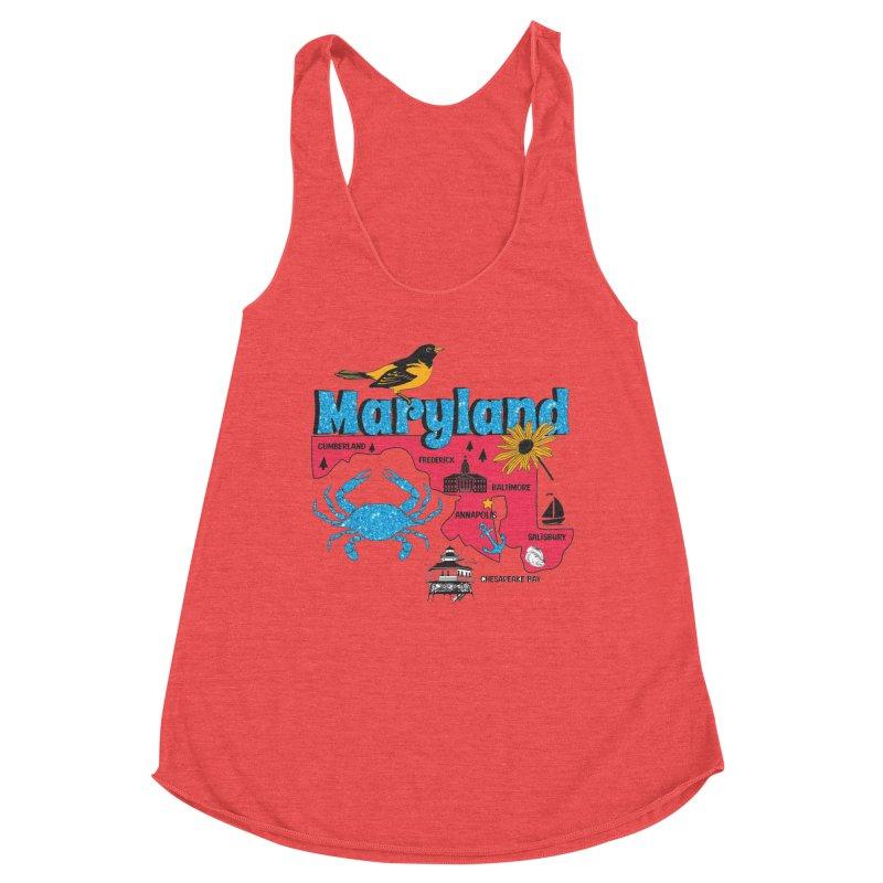 Race Through Maryland Women's Tank by Moon Joggers's Artist Shop