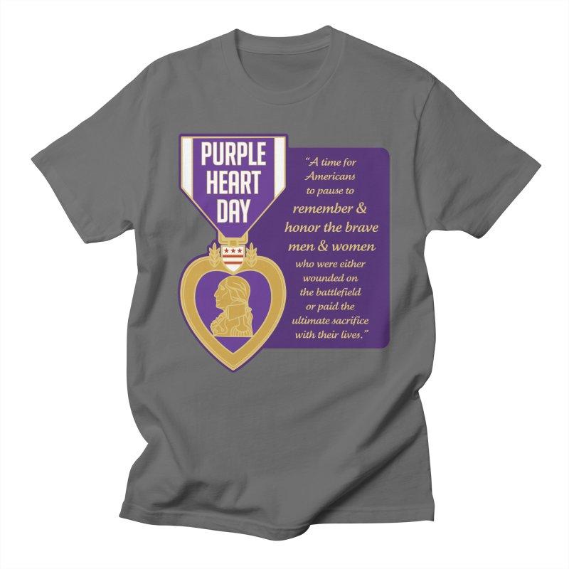 Purple Heart Day Men's T-Shirt by Moon Joggers's Artist Shop