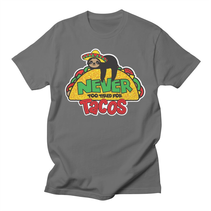 Taco Sloth 1M 5K 10K 13.1 26.2 Men's T-Shirt by Moon Joggers's Artist Shop