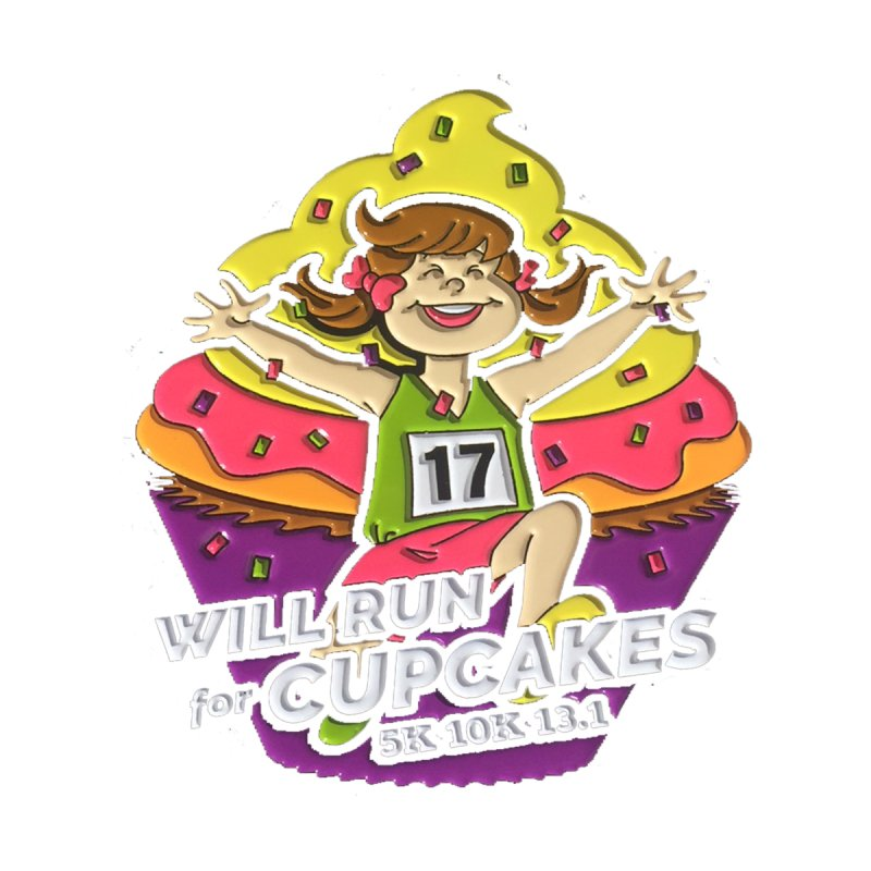 Cupcake Day 5K, 10K, 13.1 - Will Run For Cupcakes! by moonjoggers's Artist Shop