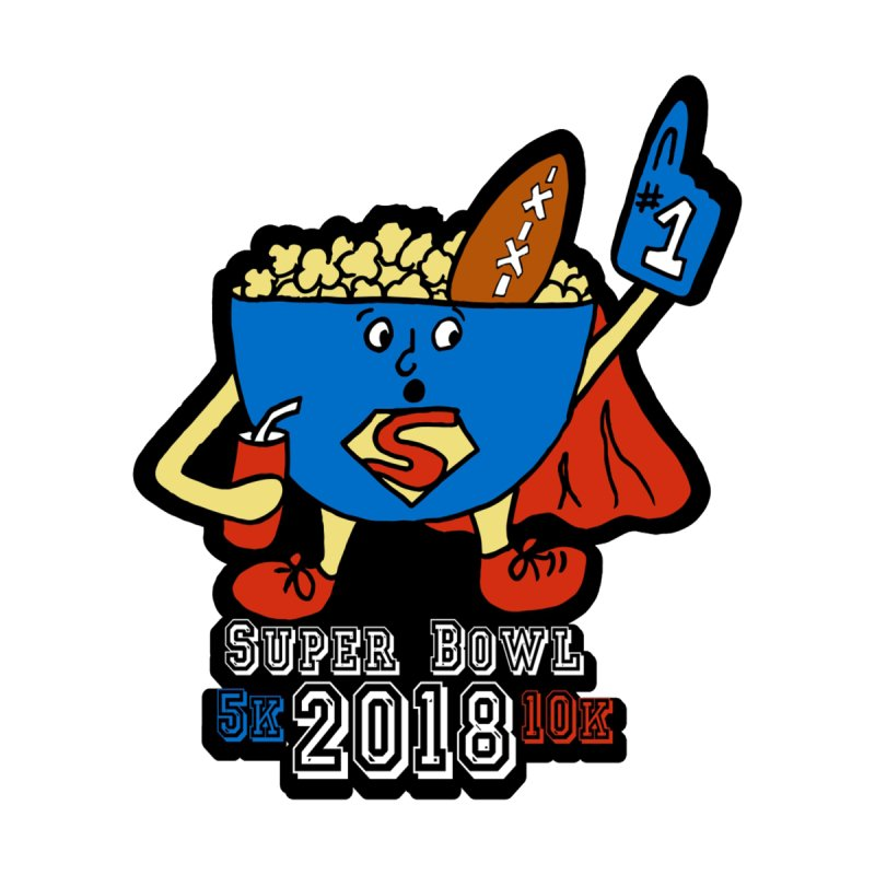 Super Bowl 5K & 10K by moonjoggers's Artist Shop