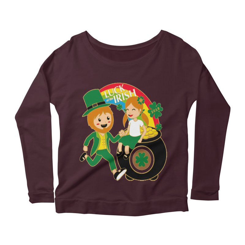 Luck of the Irish Women's Longsleeve Scoopneck  by moonjoggers's Artist Shop