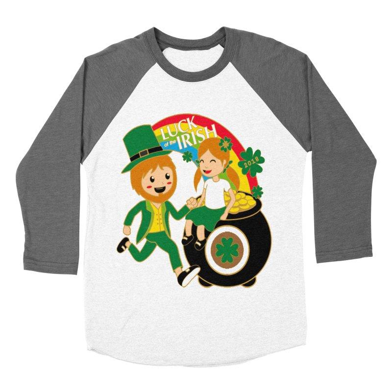 Luck of the Irish Women's Baseball Triblend T-Shirt by moonjoggers's Artist Shop