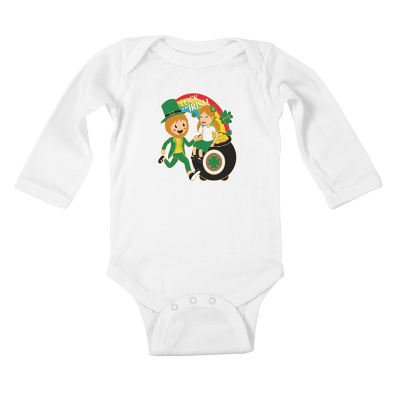 Luck of the Irish Kids Baby Longsleeve Bodysuit by moonjoggers's Artist Shop
