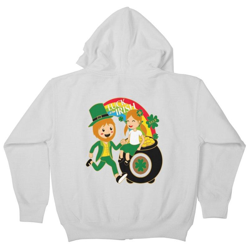 Luck of the Irish Kids Zip-Up Hoody by moonjoggers's Artist Shop
