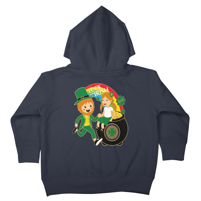 Luck of the Irish Kids Toddler Zip-Up Hoody by moonjoggers's Artist Shop