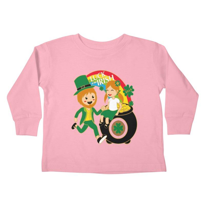 Luck of the Irish Kids Toddler Longsleeve T-Shirt by moonjoggers's Artist Shop