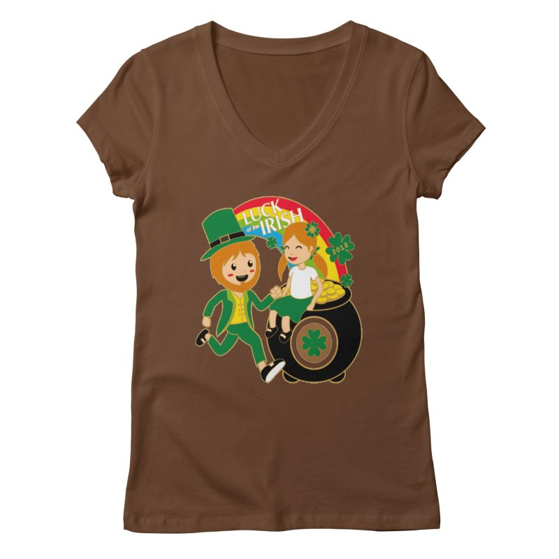Luck of the Irish Women's V-Neck by moonjoggers's Artist Shop