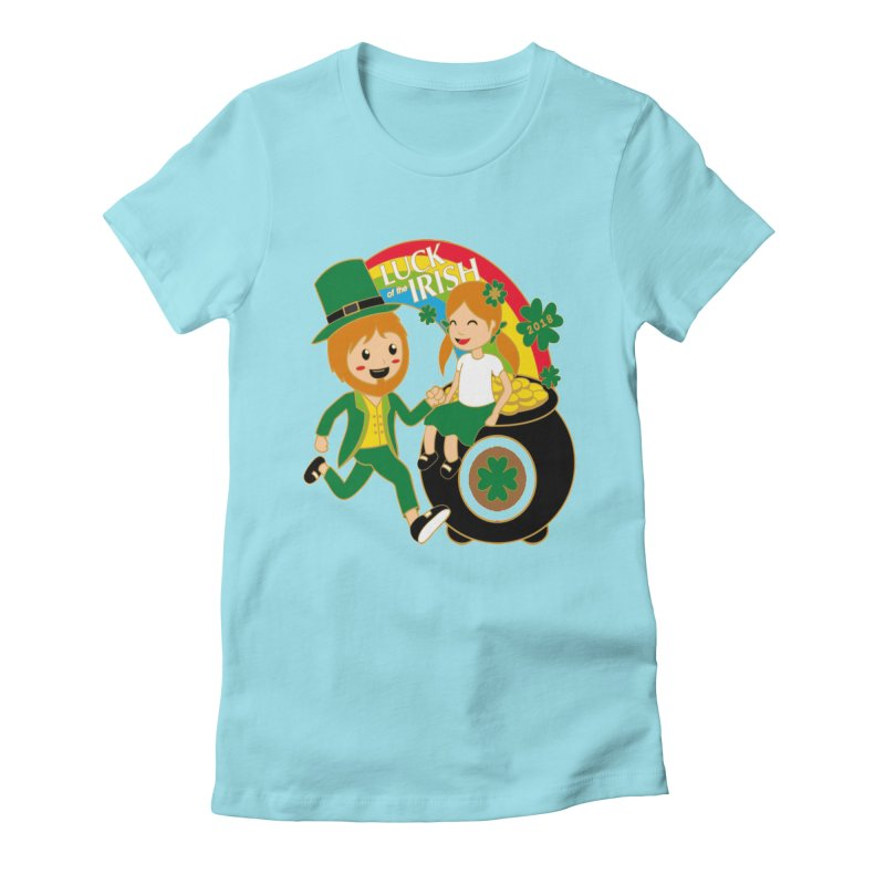 Luck of the Irish Women's Fitted T-Shirt by moonjoggers's Artist Shop