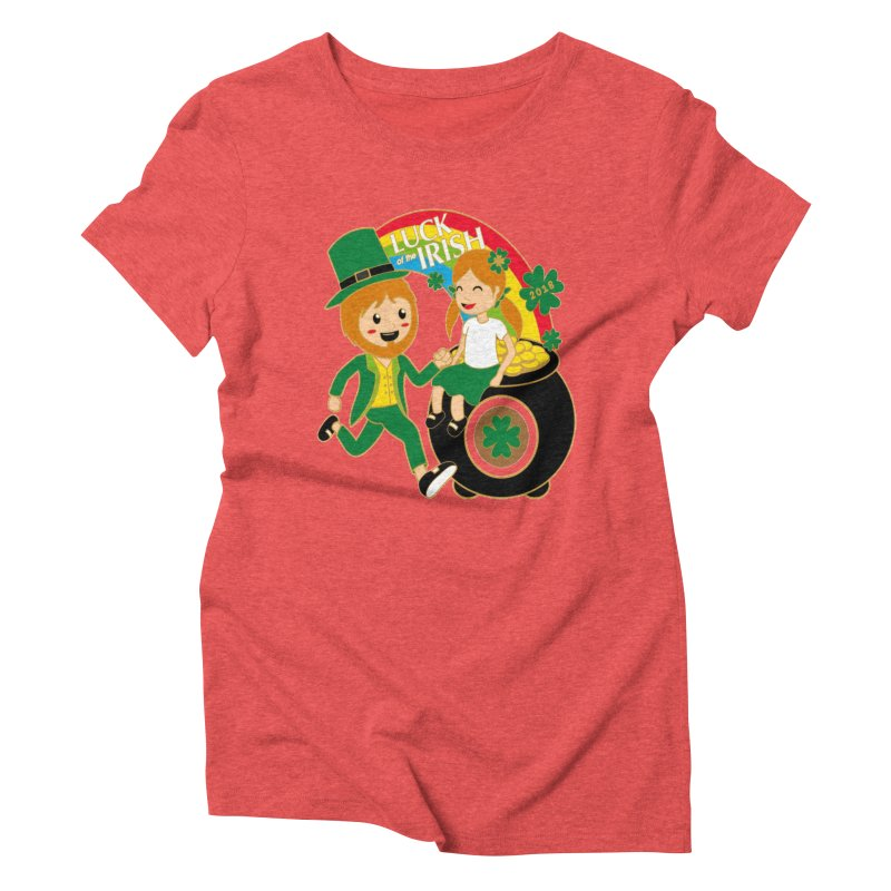 Luck of the Irish Women's Triblend T-Shirt by moonjoggers's Artist Shop