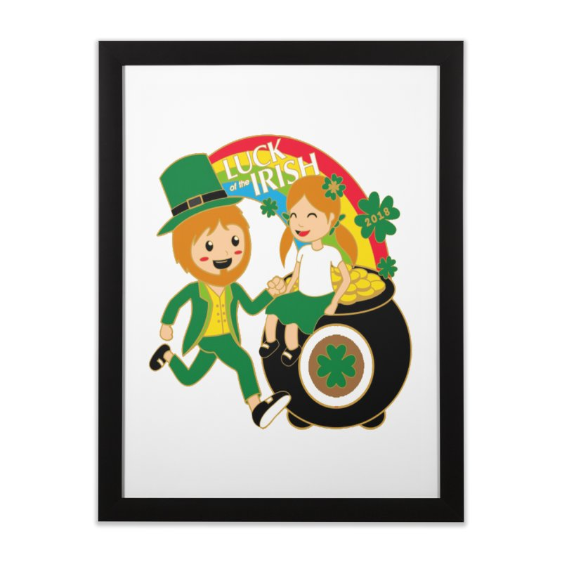 Luck of the Irish Home Framed Fine Art Print by moonjoggers's Artist Shop