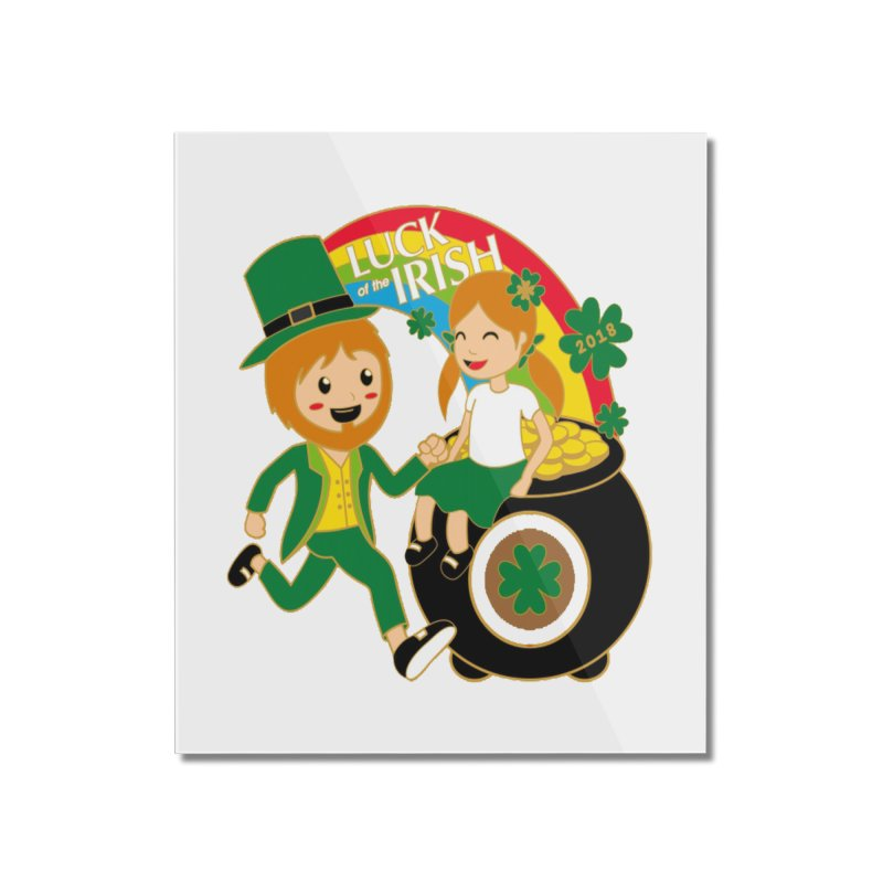 Luck of the Irish Home Mounted Acrylic Print by moonjoggers's Artist Shop