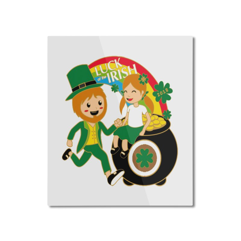 Luck of the Irish Home Mounted Aluminum Print by moonjoggers's Artist Shop