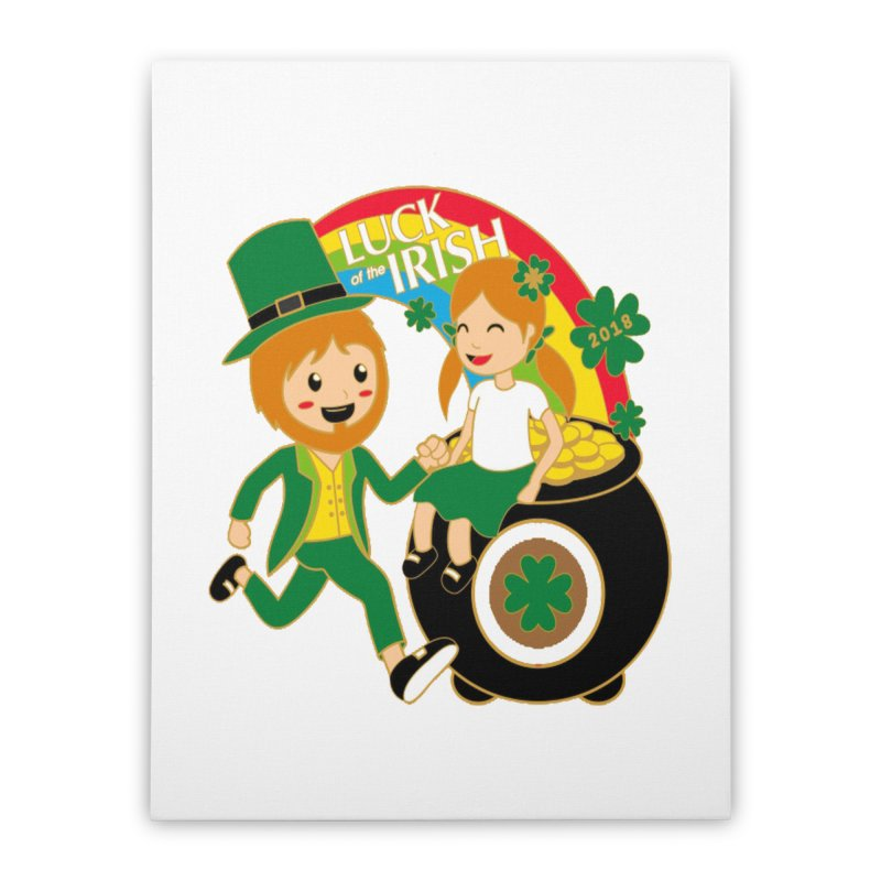 Luck of the Irish Home Stretched Canvas by moonjoggers's Artist Shop