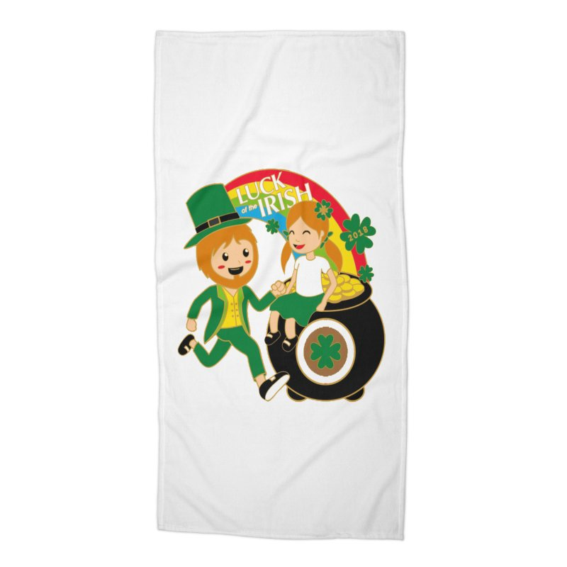 Luck of the Irish Accessories Beach Towel by moonjoggers's Artist Shop