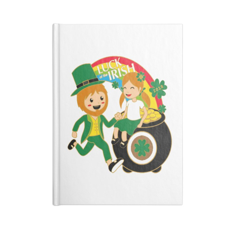 Luck of the Irish Accessories Notebook by moonjoggers's Artist Shop