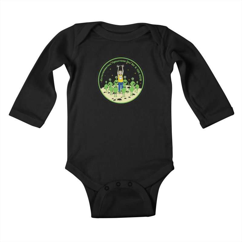 ExtraTerrestrials Abduction Day 5K & 10K Kids Baby Longsleeve Bodysuit by moonjoggers's Artist Shop