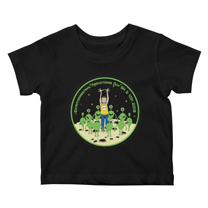ExtraTerrestrials Abduction Day 5K & 10K Kids Baby T-Shirt by moonjoggers's Artist Shop